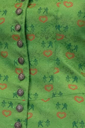 Damen-Corsage-gruen-Detail