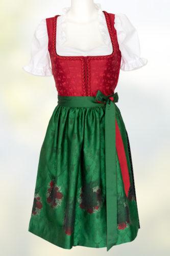 Hiebaum-Dirndl-rot-schwarz-Schuerze-gruen-Blumen-1