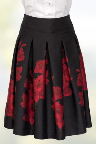 Hiebaum-Trachtenrock-Damen-schwarz-rot-1