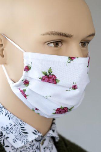 Mund-Nasen-Maske-weiss-Rosen-2