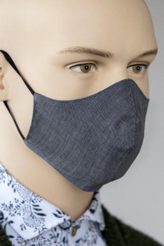 Mund-Nasen-Schutz Anthrazit-Mele-1