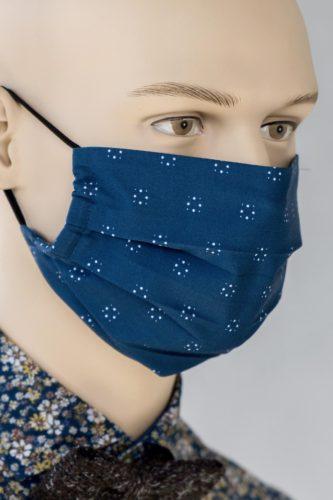 Mund-Nasen-Schutz-Faltmaske-dunkelblau-muster-1