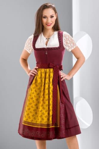 Hiebaum-Dirndl-dordeaux-gelb-1